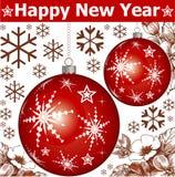 Nowy rok. Powitanie kartka bożonarodzeniowa. Obraz Royalty Free