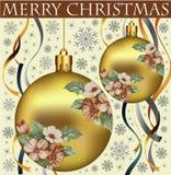 Nowy rok. Powitanie kartka bożonarodzeniowa. Zdjęcie Stock