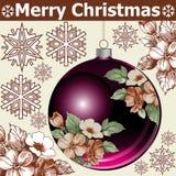 Nowy rok. Powitanie kartka bożonarodzeniowa. Zdjęcia Stock
