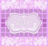 Nowy Rok powitanie ramy - 2014 Obraz Stock