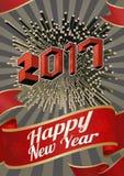 2017 nowy rok powitanie z isometric sztuka stylem Obrazy Stock