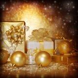 Nowy Rok prezenty Obraz Royalty Free