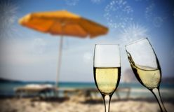Nowy Rok przy plażą Zdjęcie Stock