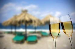 Nowy Rok przy plażą Fotografia Stock