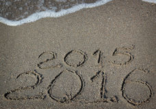 Nowy Rok 2016 przychodzi Obraz Royalty Free