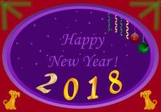 Nowy rok psiej abstrakci bożych narodzeń tasiemkowe dekoracje Obrazy Stock
