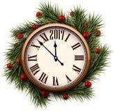 2017 nowy rok round zegar Zdjęcia Royalty Free