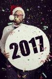 Nowy 2017 rok ` s przyjęcie Zdjęcia Royalty Free