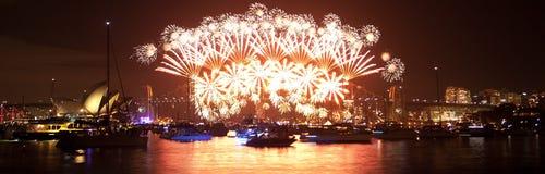 Nowy Rok 's Wigilia Sydney Obraz Stock