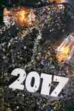 2017 nowy rok ` s wigilii Grunge tło Zdjęcia Stock