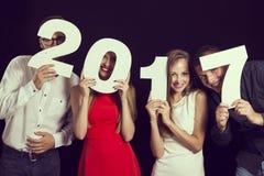 Nowy 2017 rok ` s wigilii przyjęcie Zdjęcia Stock