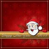 Nowy Rok Santa. Kartka z pozdrowieniami. royalty ilustracja