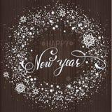 Nowy Rok snowlakes drewniany tło Obraz Royalty Free