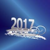 2017 nowy rok srebro Zdjęcie Stock