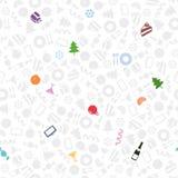 Nowy Rok symboli/lów bezszwowy wzór Obraz Royalty Free