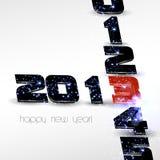 Nowy rok szczęśliwa karta royalty ilustracja