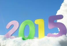 Nowy rok szczęśliwe cyfry 2015 Obraz Stock