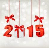 2015 nowy rok tła z prezentem ilustracji