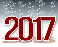 Nowy rok 2017 tła Fotografia Stock