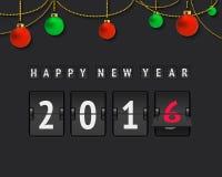 Nowy rok 2016 tablica wyników ilustracja wektor