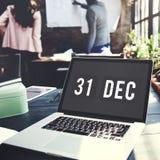 Nowy Rok technologii daty grafiki pojęcie Zdjęcie Stock