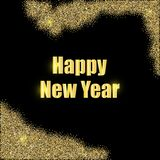 Nowy Rok w złoto listach na czarnym tle royalty ilustracja