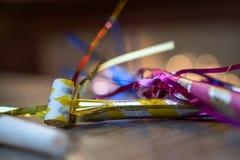 Nowy Rok wigilia ornamenty i dekoracj Obrazy Royalty Free
