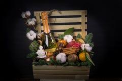 Nowy rok wigilia prezenta pudełka Fotografia Royalty Free