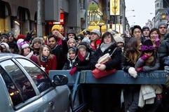 Nowy Rok wigilia tłumu times square Fotografia Stock