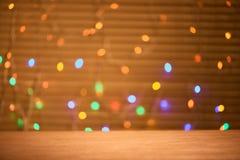 Nowy rok wigilii świętowania tła z światłami zdjęcia royalty free