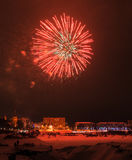 Nowy rok wigilii 2015 fajerwerków Zdjęcia Stock