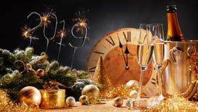 Nowy Rok wigilii 2019 partyjnego tła obrazy stock