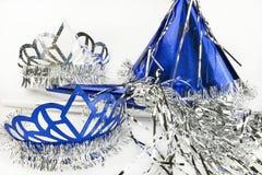 Nowy Rok wigilii przyjęcia dostaw na białym tle Zdjęcie Stock