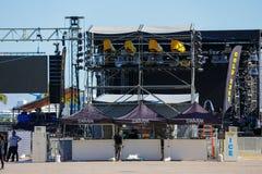 Nowy Rok wigilii przyjęcia przy W centrum Miami koncerta sceną Zdjęcie Royalty Free