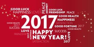 Nowy Rok wigilii 2017 - szczęśliwi nowego roku 2017New rok Eve2017 ponowni Obrazy Stock