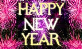 Nowy rok wigilii tła - fajerwerki Zdjęcia Royalty Free