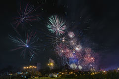 Nowy rok wigilii w Warszawa, Polska Obrazy Royalty Free