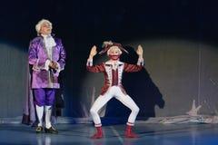 Nowy Rok występów dziadek do orzechów i myszy królewiątko Zdjęcia Royalty Free