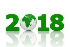 Nowy Rok 2018 z trawą Obraz Stock