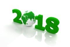 Nowy Rok 2018 z trawą Zdjęcie Stock