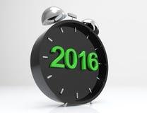 2016 nowy rok zegar Obrazy Royalty Free