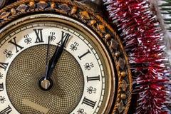 2017 nowy rok zegar Zdjęcia Stock