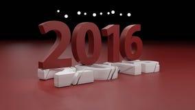 2016 nowy rok zmiany pojęcie Zdjęcie Stock