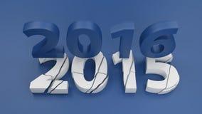 2016 nowy rok zmiany pojęcie Obraz Stock