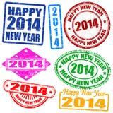 2014 nowy rok znaczki Fotografia Stock