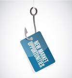Nowy rynek sposobności haczyka znaka pojęcie Zdjęcie Royalty Free