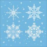 nowy s płatków śniegów rok Obraz Royalty Free