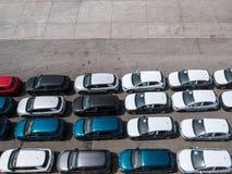 nowy samochodu rząd obrazy stock