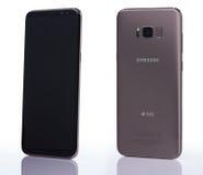 Nowy Samsung s8+ smartphone Obraz Stock