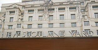 Nowy Scotland Yard jest HQ Wielkomiejska policja i lokalizuje na Wiktoria Embankement, Londyn, Styczeń 2018 obraz stock